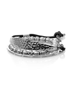White House Black Market - Silverstone Bead Bracelet