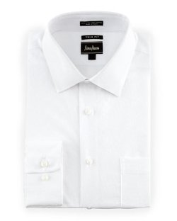 Neiman Marcus  - Tonal Dot Dobby Dress Shirt