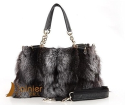 Redberry Women Bags Store -  Fox Fur Genuine Handbag