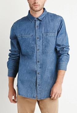 jason crouse 39 s blue vince indigo twill button down shirt. Black Bedroom Furniture Sets. Home Design Ideas
