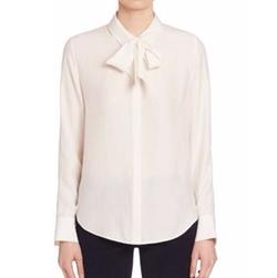Frame - Bow Tie Silk Blouse