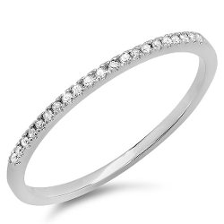 DazzlingRock Collection - Diamond Ladies Dainty Anniversary Wedding Band