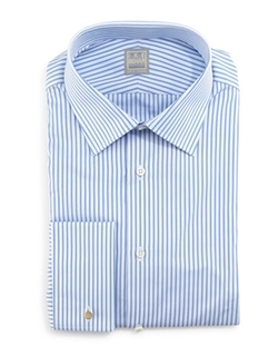 Ike Behar - Striped French-Cuff Dress Shirt