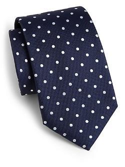 Hugo Boss  - Dot Print Silk Tie