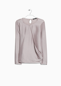 Mango - Satin Wrap Blouse