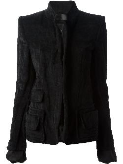 HAIDER ACKERMANN - stand-up collar jacket