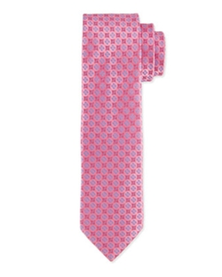 Charvet - Floral-Pattern Polka-Dot Silk Tie