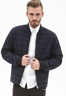 Forever21 - Plaid Bomber Jacket