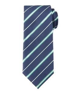 Brioni - Striped Honeycomb-Pattern Tie