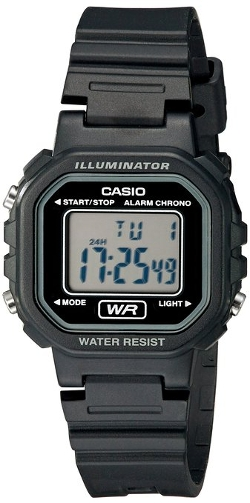 Casio - Classic Digital Black Resin Watch