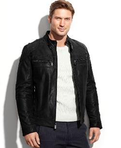 Michael Kors  - Clear Creek Patched Leather Moto Jacket