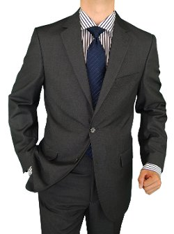 Salvatore Exte - 2 Button Charcoal Gray Suit