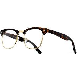 Zero UV - Classic Horn Rimmed Clear Lens Glasses