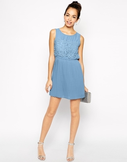 ASOS  - Skater Dress with Pleated Skirt