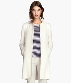 H&M - Textured-Weave Coat