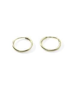 Ritastephens - Sterling Silver Small Endless Hoop Earrings