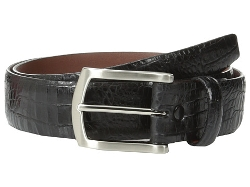 Torino Leather Co.  - Italian Gator Calf with Satin Nickel Buckle Belt