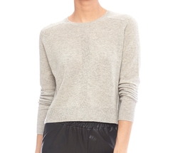 Autumn Cashmere - Cropped Rib Crew Sweater