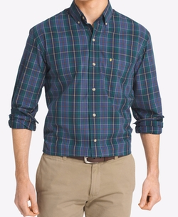 IZOD - Non-Iron Plaid Shirt
