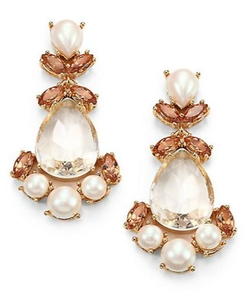 Kate Spade New York -  Faux Pearl Chandelier Earrings