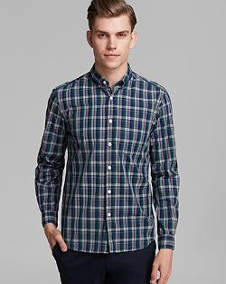 Steven Alan  - Single Needle Plaid Sport Shirt