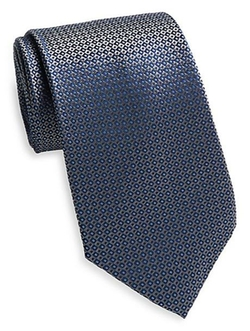 Saks Fifth Avenue  - Neat Square Dot Silk Tie