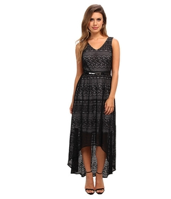 Marc New York By Andrew Marc  - High-Low Lace Maxi Dress
