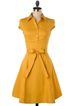 ModCloth - Soda Fountain Dress in Ginger