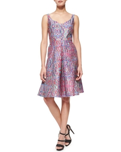 Nanette Lepore  - Machu Picchu Sleeveless V-Neck Printed Midi Dress