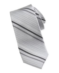 Neiman Marcus  - Diagonal-Stripe Silk Tie