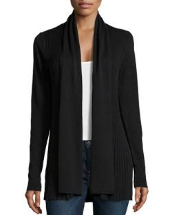 Carmen by Carmen Marc Valvo  - Shawl-Collar Knit Cardigan