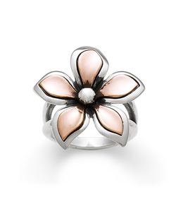 James Avery - Silver & Copper Petal Ring