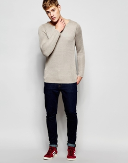 Brooklyn Supply Co - Waffle Loose Knit Crew Sweater