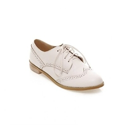 Carol Shoe - Low Heel Lace Up Oxfords Shoes