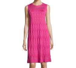 M Missoni  - Sleeveless Zigzag Knit Dress