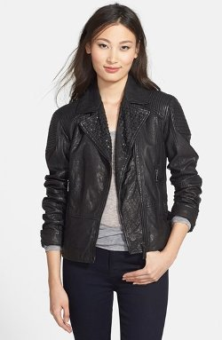 Elie Tahari - Roxie Studded Lambskin Leather Jacket