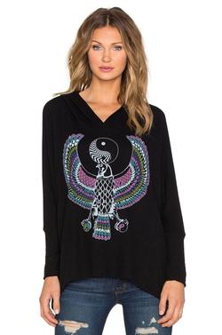 Lauren Moshi - Yin Yang Eagle Pullover Hoodie