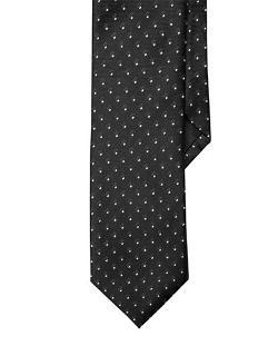 Black Brown 1826  - Slim Fit Polka Dot Neat Tie