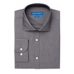 Vince Camuto - Slim-Fit Chambray Solid Dress Shirt