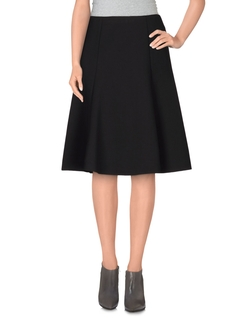 Line & Dot  - Knee Length Skirt