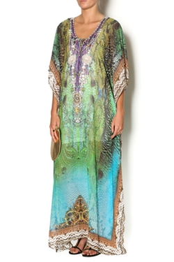 Sd 2 - Emerald Long Kaftan Dress