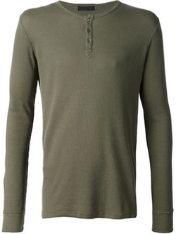 ATM - Long Sleeve Henley T-Shirt