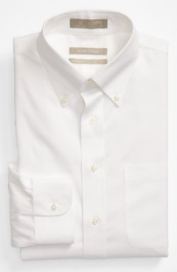 Nordstrom  - Traditional Fit Pinpoint Dress Shirt