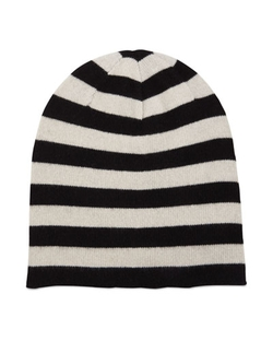 Portolano - Cashmere Striped Knit Beanie Hat