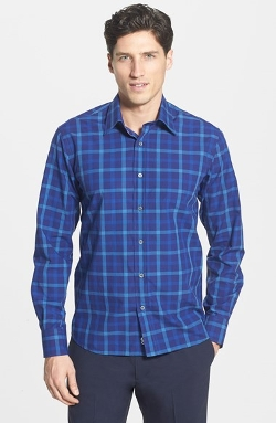Canali  - Regular Fit Plaid Sport Shirt