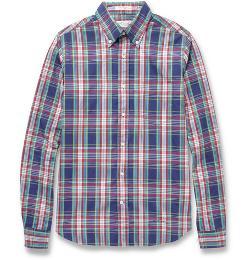 Gant Rugger - Plaid Button-Down Collar Cotton Oxford Shirt