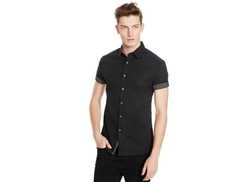 Kenneth Cole Reaction  - Button-Front Short-Sleeve Shirt