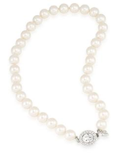 Carolee  - Nassau Nights Pearl Necklace With Crystal Accent