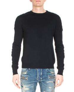 Balmain   - Crewneck Long-Sleeve Sweater