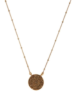 Lucky Brand - Gold Rock Crystal Pendant Necklace